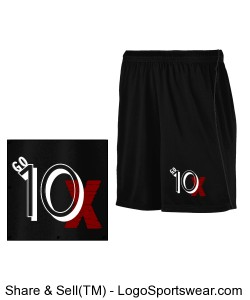 Go 10X Black Basketball Shorts with a Black Stripe Design Zoom