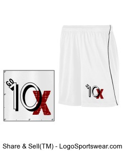 Go 10X White Basketball Shorts with a Black Stripe Design Zoom